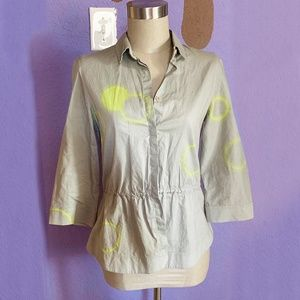 Akris Punto Cinched Button-Up Size 4